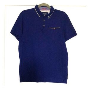 Ted Baker Unisex polo shirt royal blue
